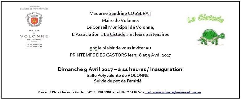 3 Jours Pour Le Printemps Des Castors Inauguration 9 04 2017 11h